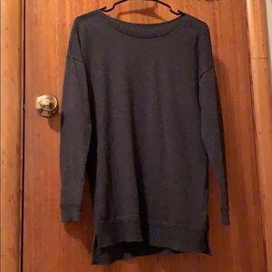 Charcoal gray long sleeve sweater